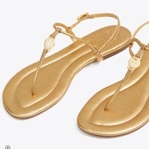 BRAND NEW TORY BURCh gold Emmy Strappy sandals